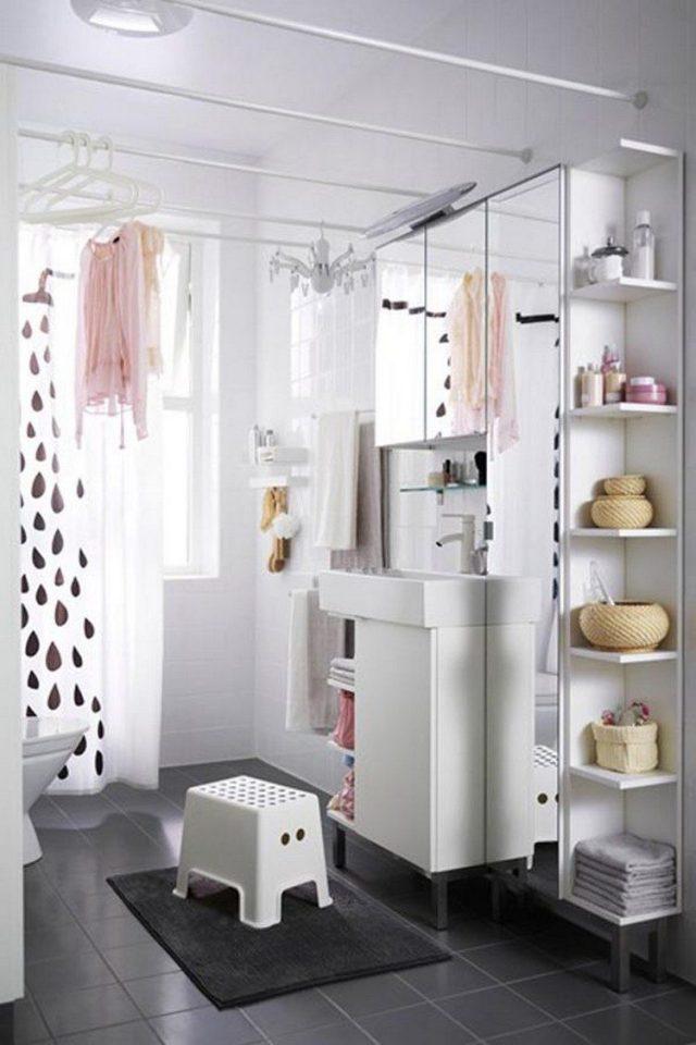 petite salle de bain deco conseil gain de place étagère douche