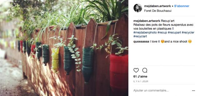 recup instagram jardin deco bouteille