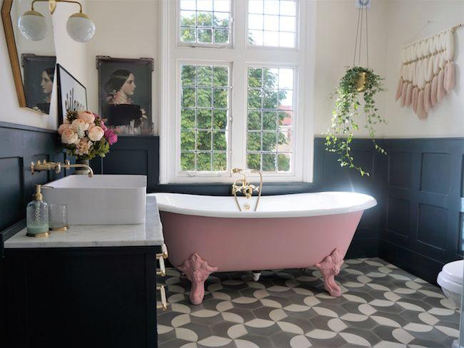 rose salle de bain inspiration decoration interieure
