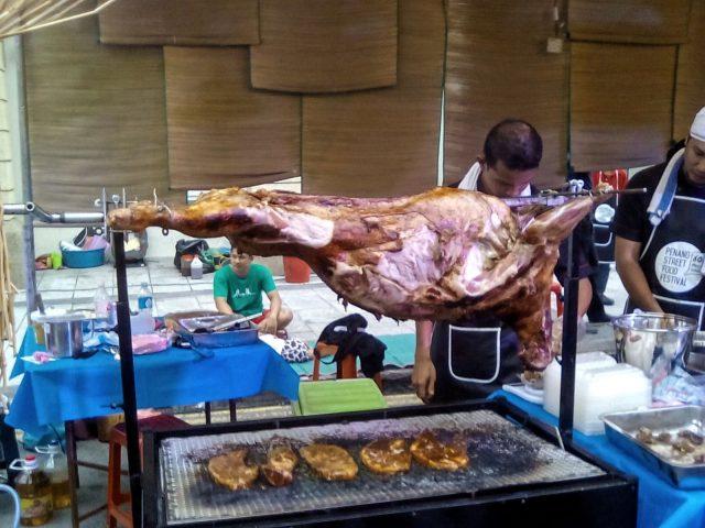 street food malaisie viande mechoui