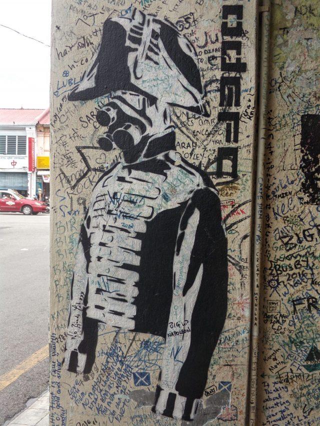 street art noir et blanc georgetown