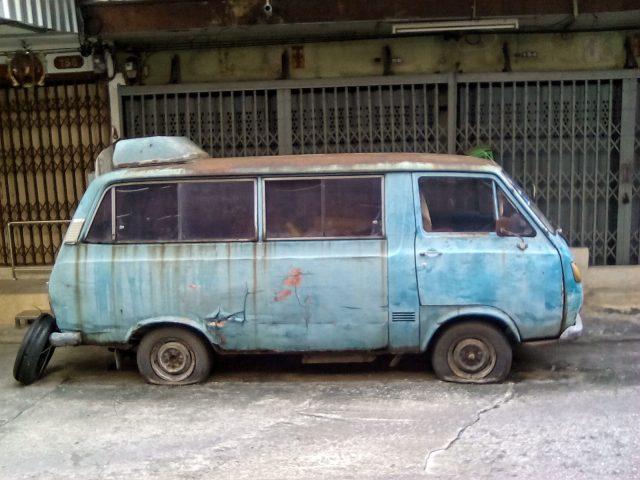 bangkok epave camionette vintage