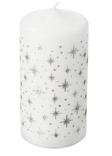bougie deco noel ikea blanc