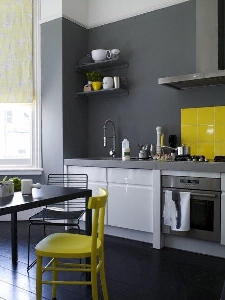 deco cuisine credence couleur mobilier