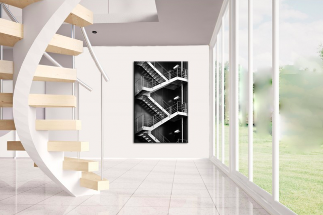 deco tableau noir et blanc architecture
