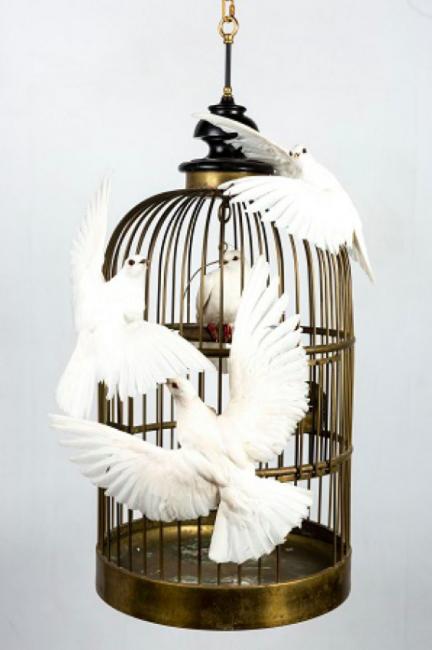 artixe deco piece unique colombe poesie
