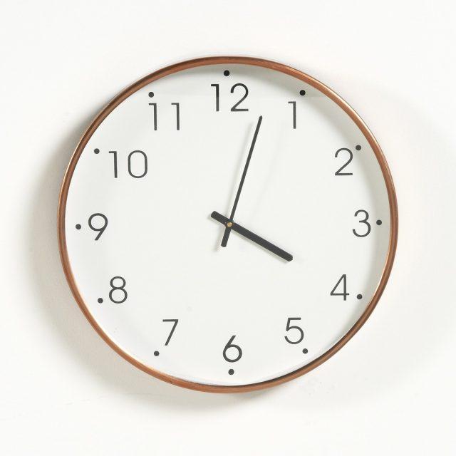 cadeau deco horloge elegante cuivre