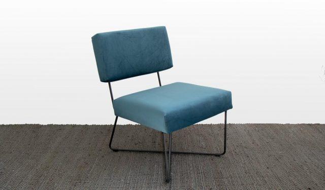 cadeau noel fauteuil design bleu armature metal