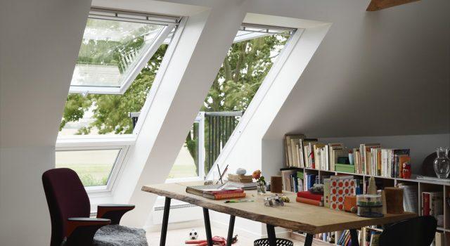 comment am nager un bureau sous les combles cocon d co vie nomade. Black Bedroom Furniture Sets. Home Design Ideas
