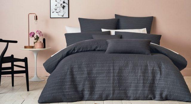 Deco chambre blush rose linge noir
