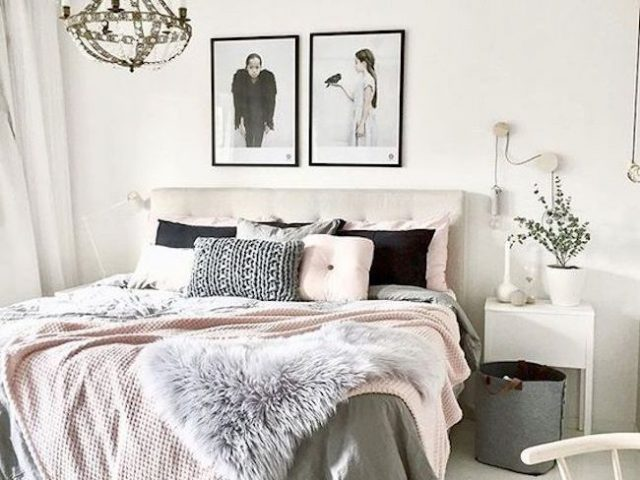 idee decoration chambre blush rose
