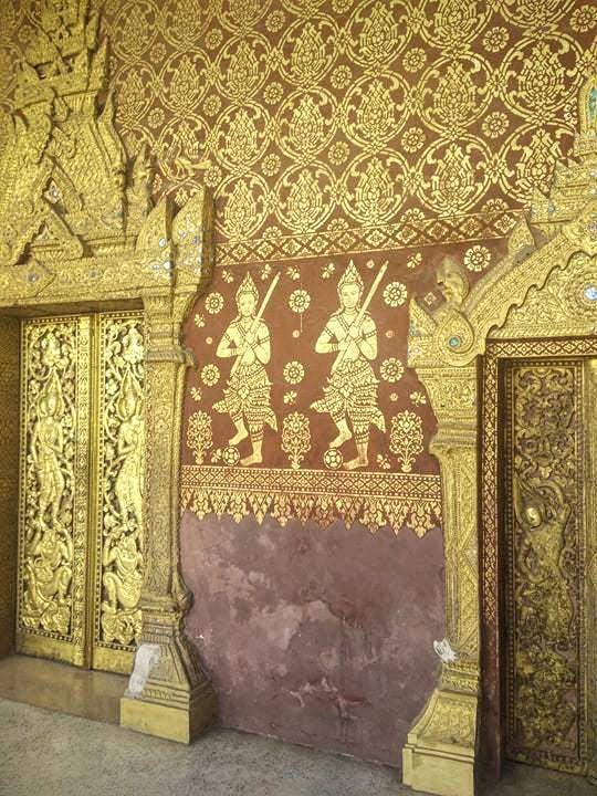 peinture bouddhisme temple laos