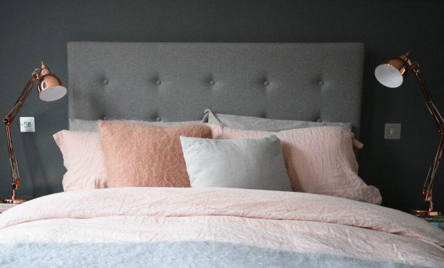 rose et gris chambre deco