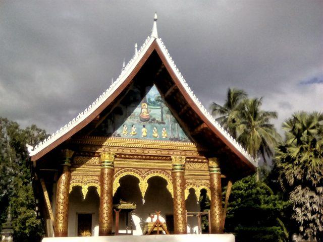 temple dessin dorure bouddhisme laos
