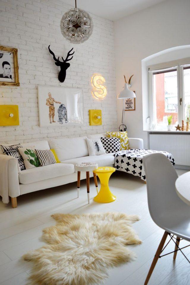du blanc dans le salon cocon de d coration le blog. Black Bedroom Furniture Sets. Home Design Ideas