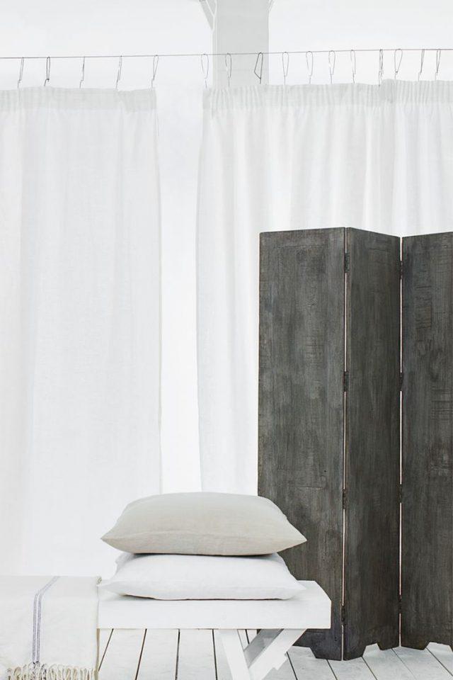 decoration chambre paravent effet beton industriel