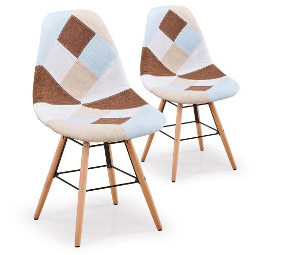 chaises deco scandinave patchwork pastel