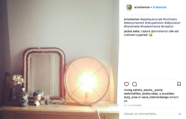 deco lampe a poser design instagram