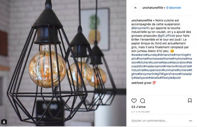deco suspension metal instagram