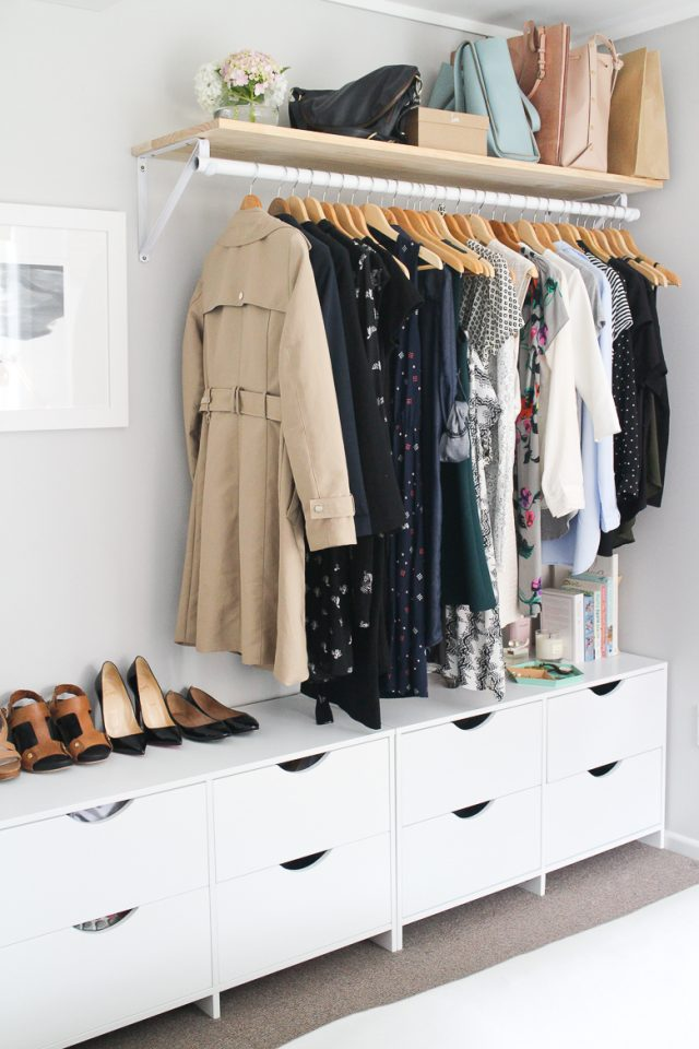 decoration chambre penderie garde robe organisation