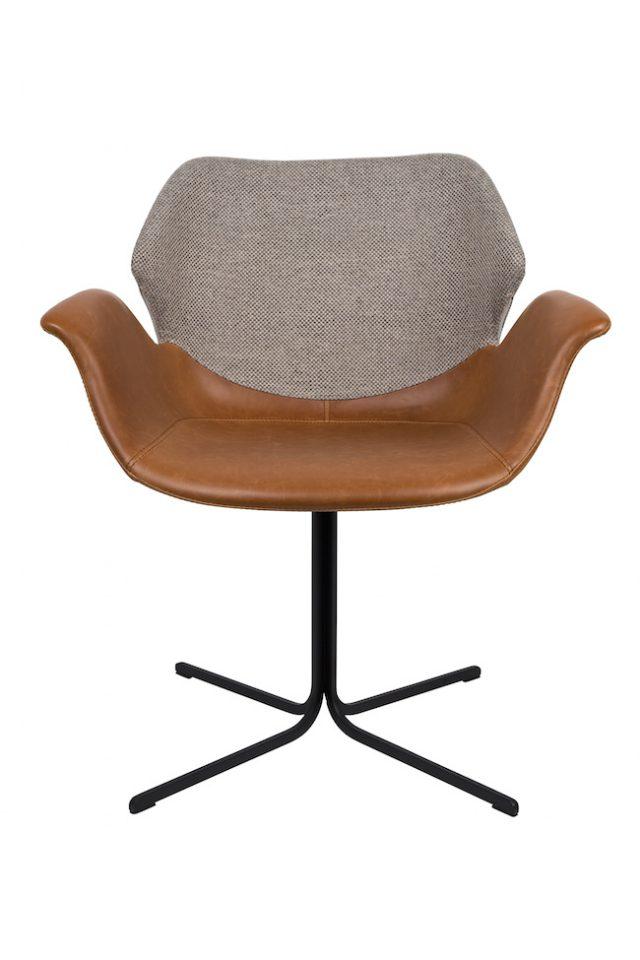 fauteuil deco design cuir tissu