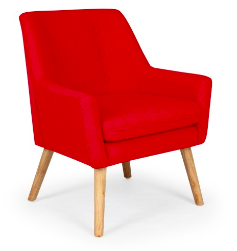 fauteuil sacndinave rouge deco salon