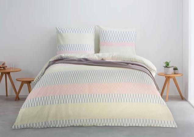 parure de lit motif pastel deco