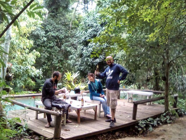 picnic laos luang prabang cascade