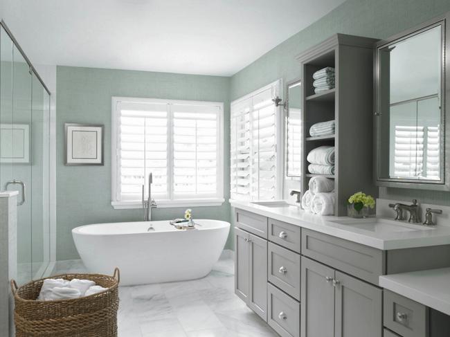 salle de bain deco gris inspiration idee