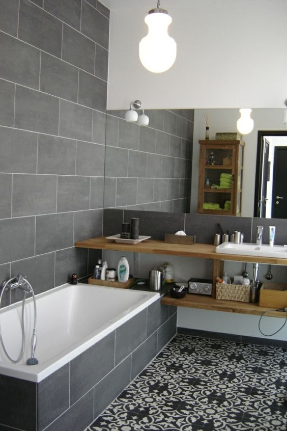 Du gris dans la salle de bain cocon d co vie nomade for Deco salle de bain gris