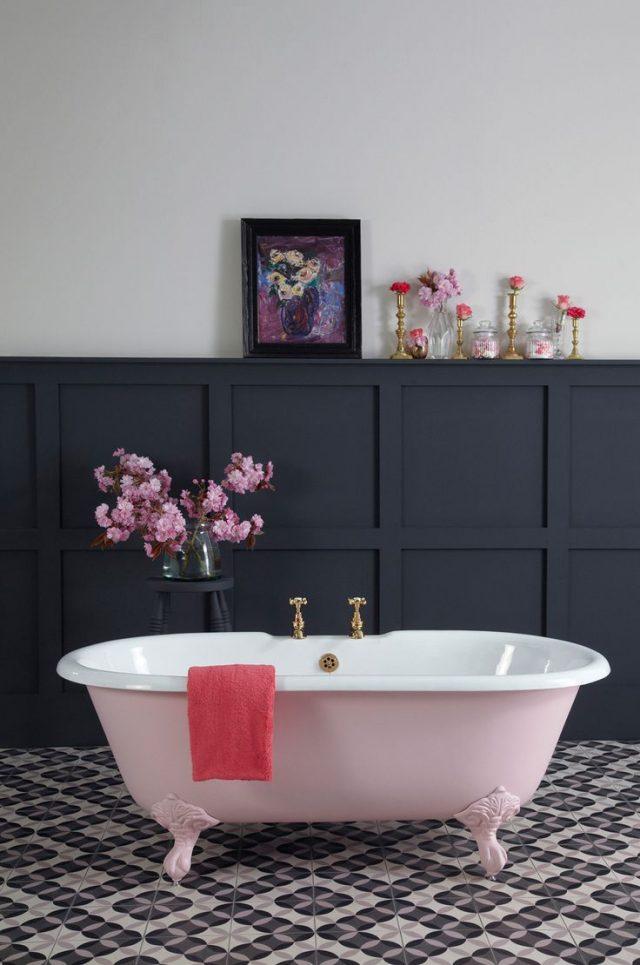 Du gris dans la salle de bain cocon de d coration le blog - Decoration salle de bain rose et gris ...