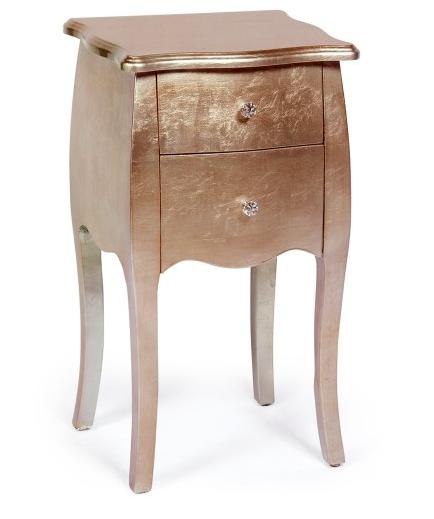 table de chevet or rose deco chambre mobilier