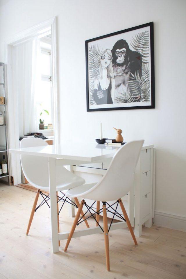 coin repas petit espace table pliante