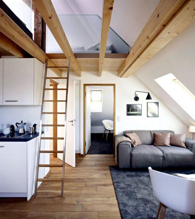 un salon sous les combles cocon d co vie nomade. Black Bedroom Furniture Sets. Home Design Ideas