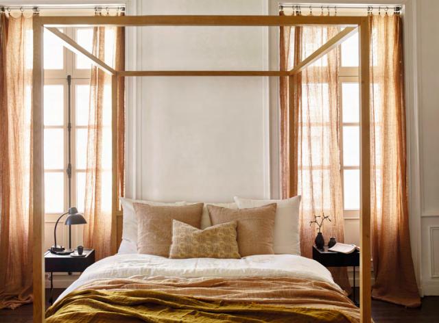 deco chambre textile maison de vacances
