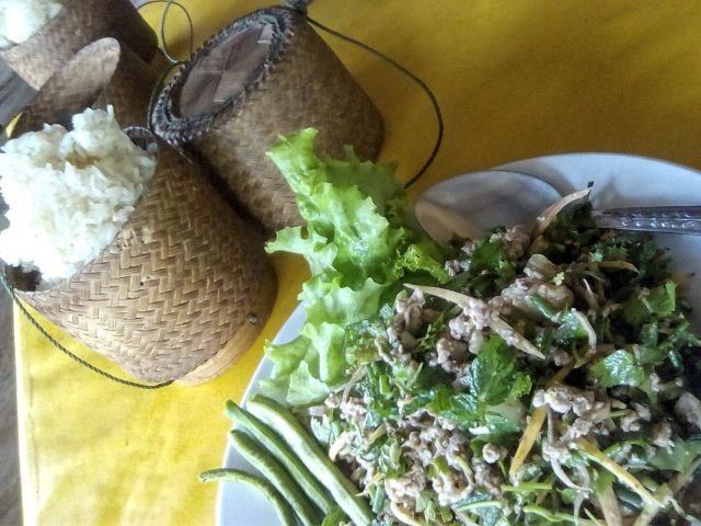 lap plat traditionnel laos riz gluant