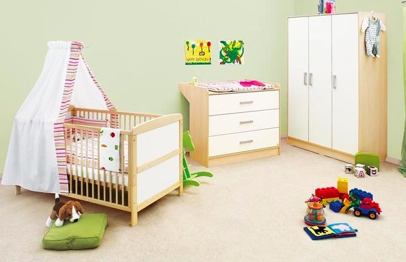 mobilier chambre enfant bois et blanc