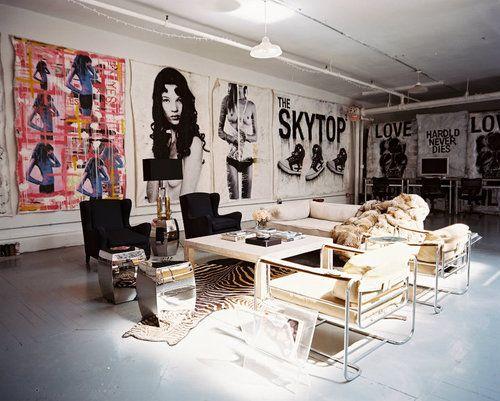 salon idee deco pop rock