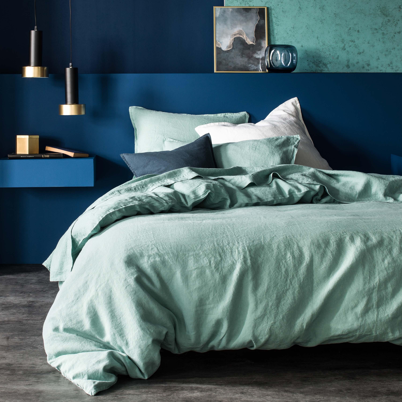 deco chambre vert et bleu