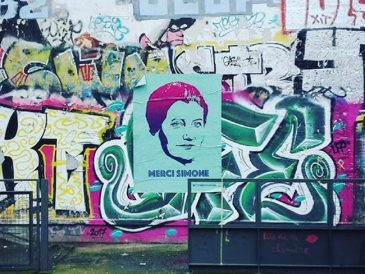 street art merci simone 8 mars