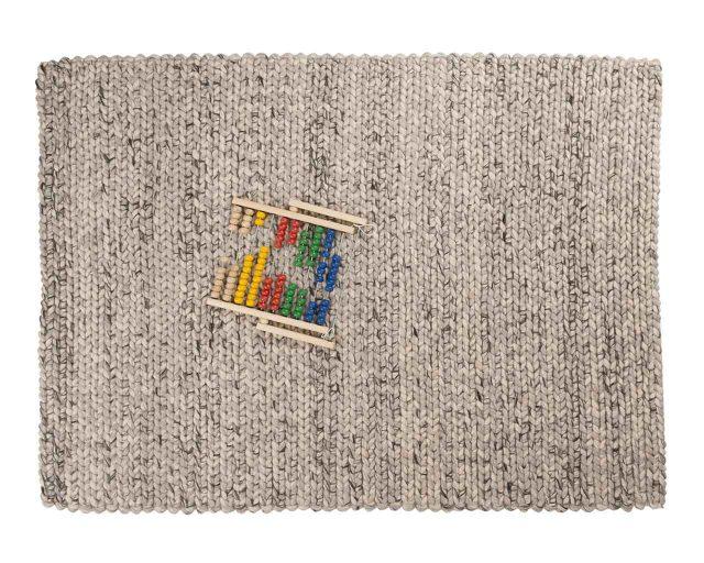 tapis deco laine tressee