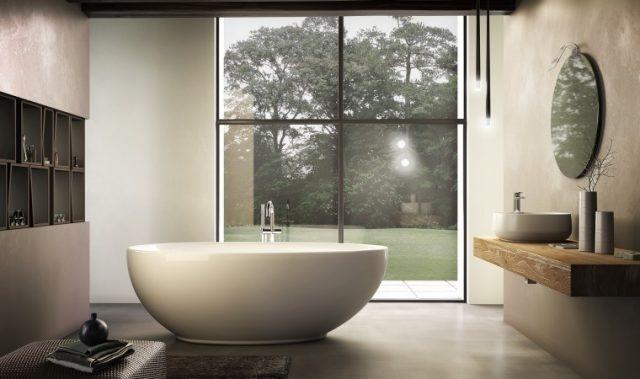 baignoire ilot design amenagement salle de bain