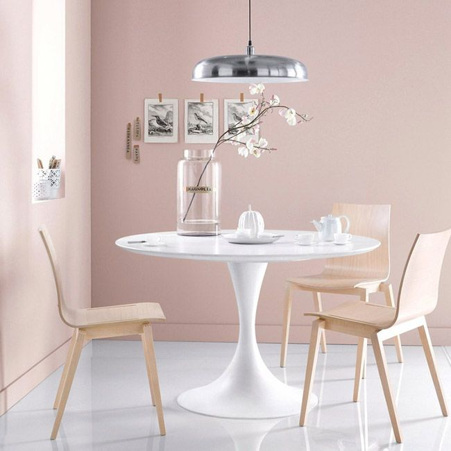 coin salle a manger deco rose