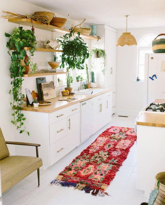 cuisine deco plante etagere vaisselle