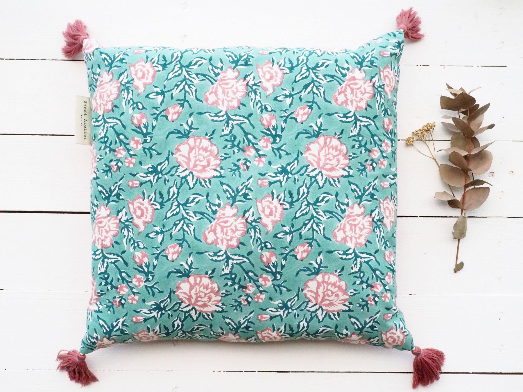 décoration coussin impression textile inde