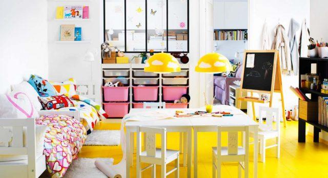 decoration enfant chambre sol couleur