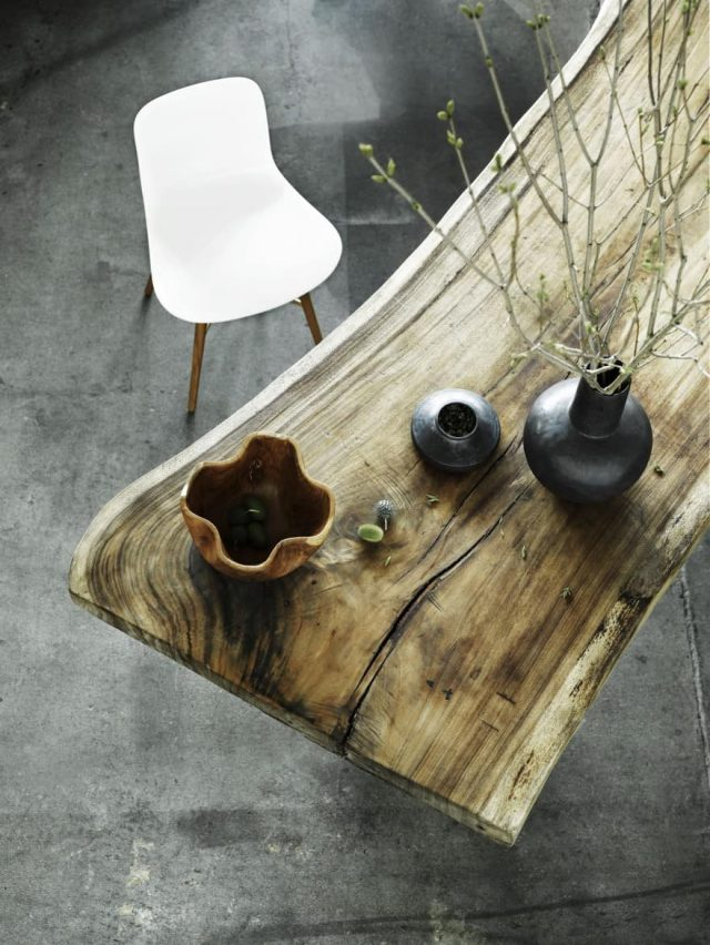 decoration wabi sabi mobilier bois table