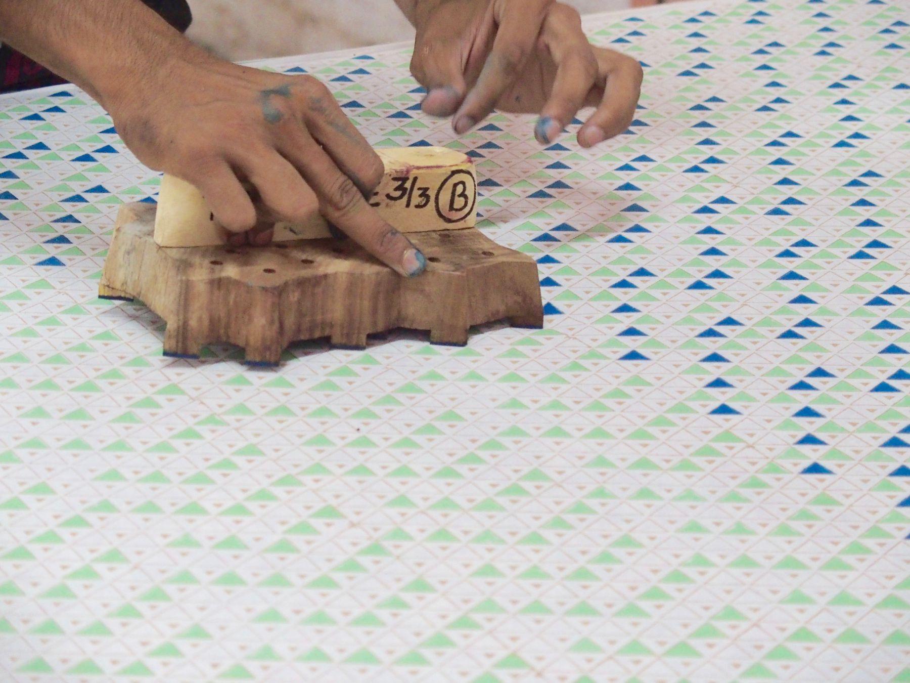 impression tissus inde blockprint bindi atelier