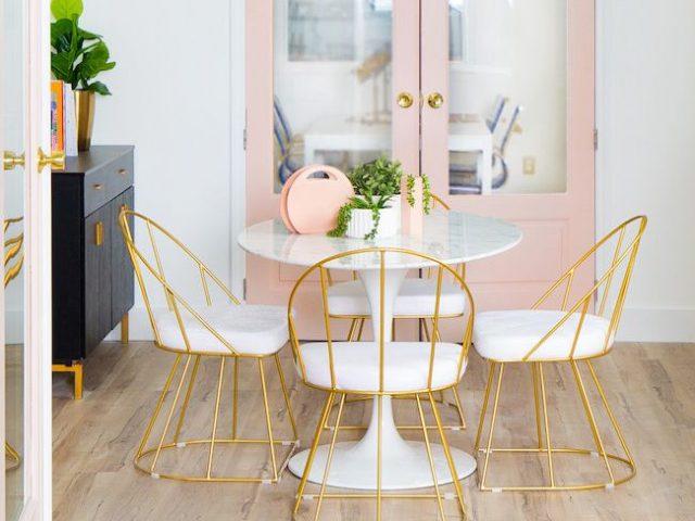 Du rose dans la salle manger cocon de d coration le blog for Dans salle de bain