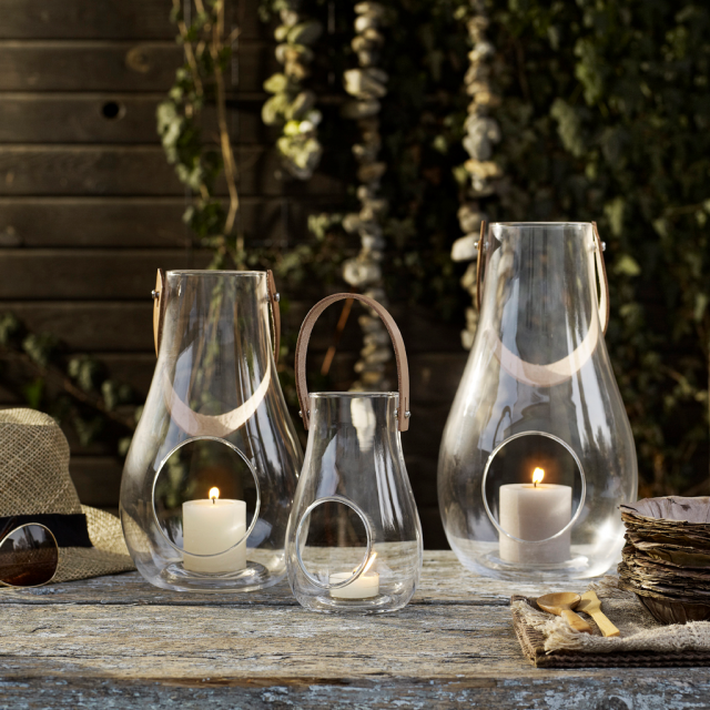 lanternes deco jardin verre